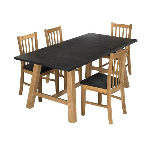 AXE  DT133  Dining table & CH133(2)  Wooden Chairs From Denelli (1) (2)